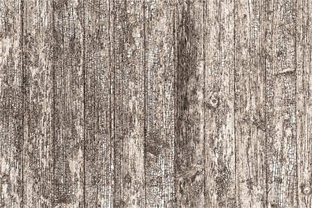 illustrated background of old wooden planks