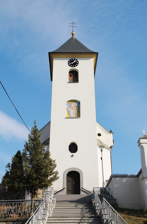 nice white church in Albrechticky, Czech Republic