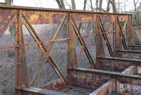 old abandoned railway bridge near Studenka, Czech Republic