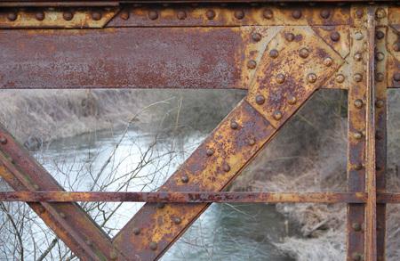 detail of old abandoned railway bridge near Studenka, Czech Republic