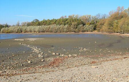 bottom of an emptied pond, Poodri, Czech Republic
