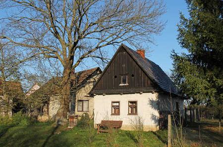 nice houses at the countryside in Bartosovice, Czech Republic Redakční