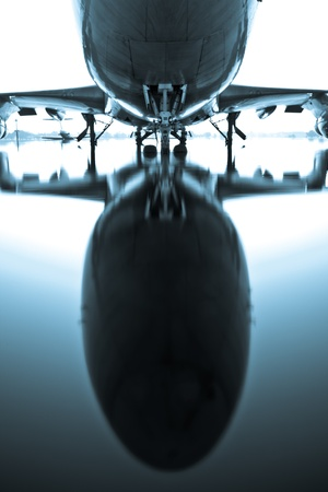 airport runway: Airplane .