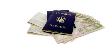 ides: Ukrainian passport and money