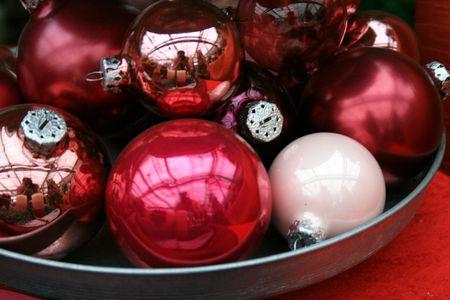 christmas deco: decoraci�n de Navidad Foto de archivo