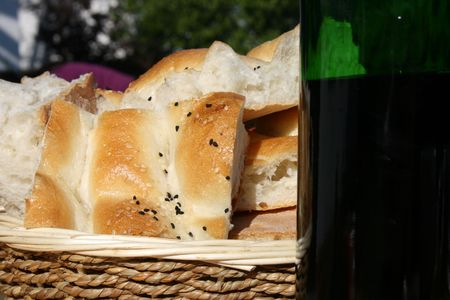 Bread and Wine Stock Photo - 6055603