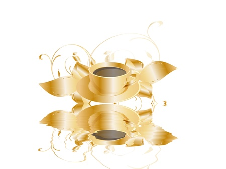 coffeecup: golden coffeecup