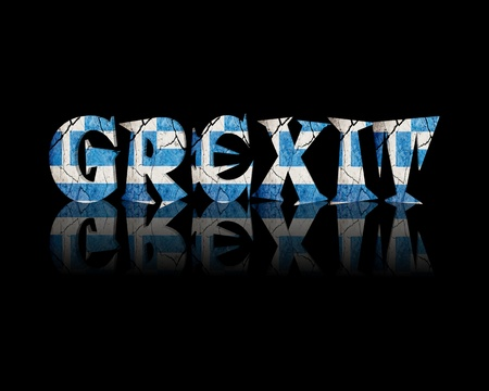 concurs: Grexit 3d Word Greece