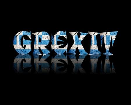 concurs: Grexit 3d Word Greece