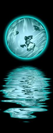 blue moon: Blue Moon Stock Photo