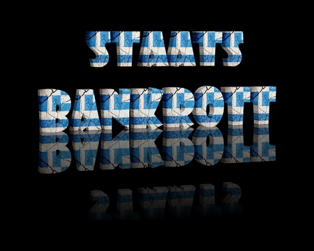 concurs: State bankruptcy greece 3d word