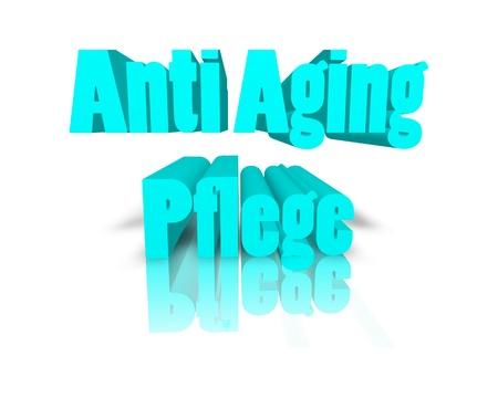 anti: Anti Age Care 3d word Stock Photo
