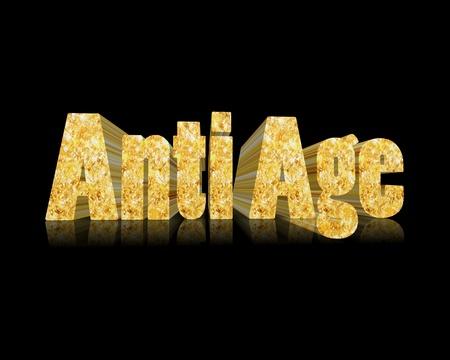anti: Anti Age 3d word Stock Photo