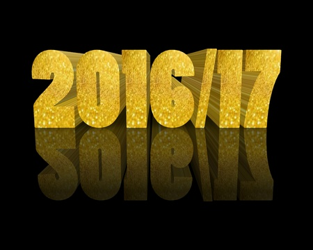 year 3d: 2016 2017 Happy New Year 3d word Stock Photo