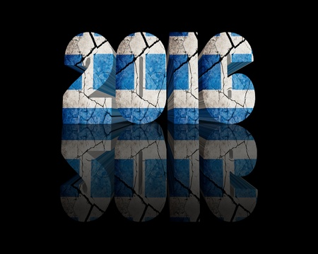 year 3d: 2016 Happy New Year 3d word