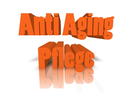 anti age: antiaging care 3d word