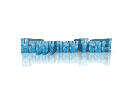 year 3d: Happy New Year 3d word
