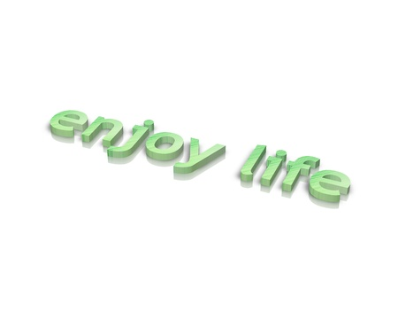 activ: enjoylife 3d word Stock Photo