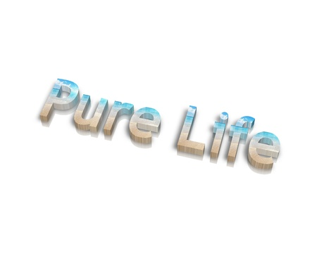 activ: Pure Life 3d word