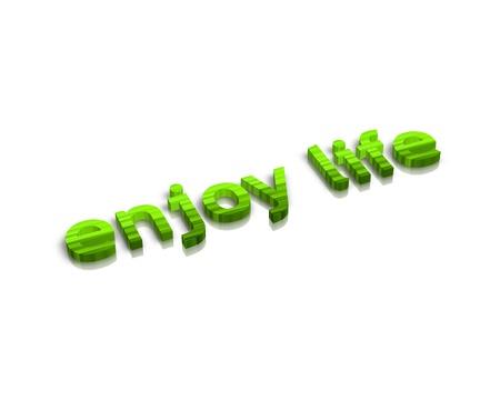 activ: enjoylife 3d word Stock Photo