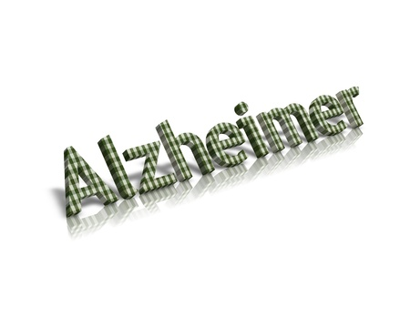 alzheimer: alzheimer 3d word Stock Photo