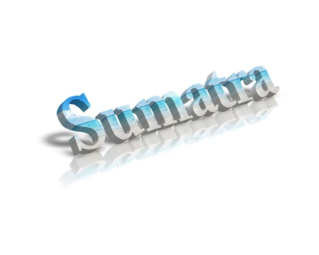 sumatra: Sumatra 3d word Stock Photo