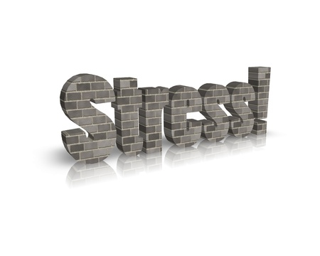 doctor burnout: Stress 3d word Stock Photo
