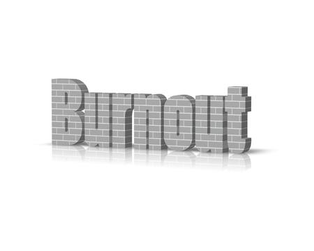 doctor burnout: Burnout 3d word