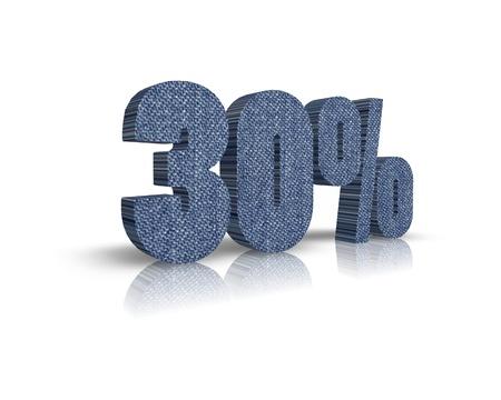 80 90: 30 3d word Stock Photo