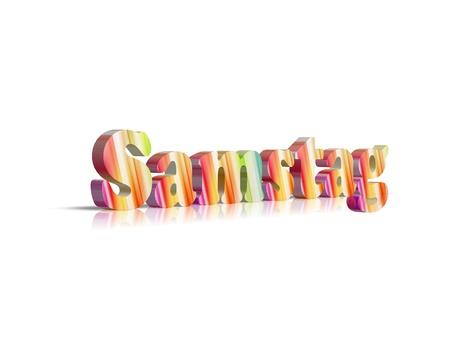saturday: Saturday 3d word Stock Photo