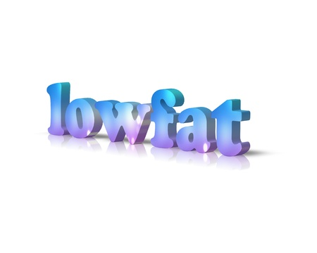 low fat: Low Fat 3d word