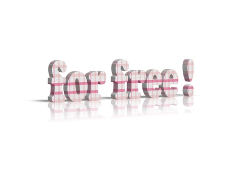 freebie: for free 3d word Stock Photo