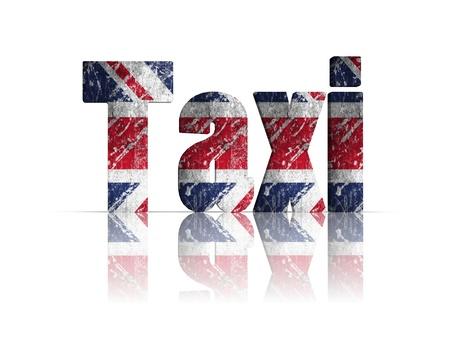 britan: taxi 3d word Stock Photo