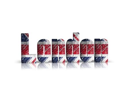 britan: london 3d word Stock Photo