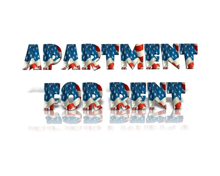 apartment for rent: apartment for rent 3d word