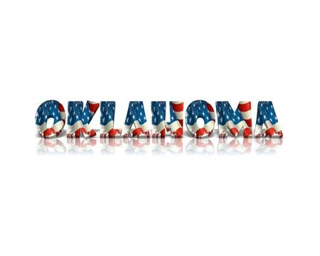 oklahoma: Oklahoma 3d word Stock Photo