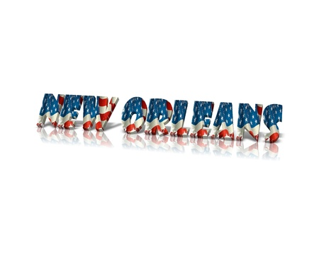 orleans: New Orleans 3D word