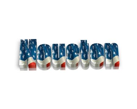 houston flag: Houston 3d word Stock Photo