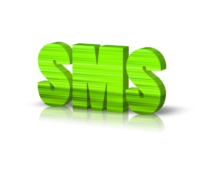 sms: SMS 3d word Stock Photo