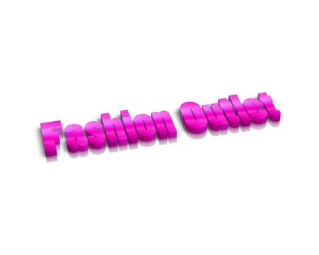 outlet: Fashion Outlet 3d word