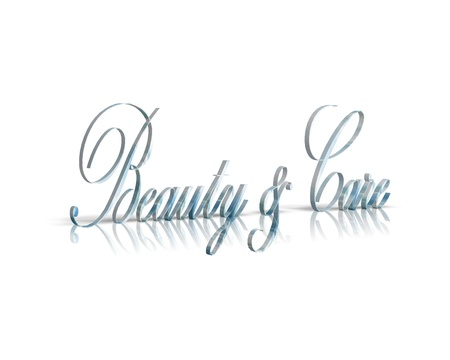 care: Beauty Care 3d word