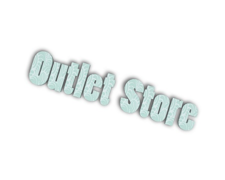 outlet store: Outlet store 3d word