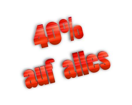 80 90: Sale 40 3d word