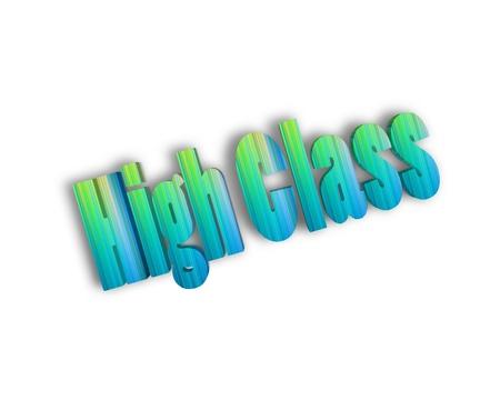 alumnos en clase: clase alta 3d palabra