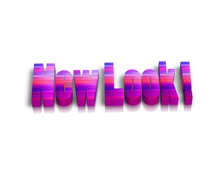 new look: New Look 3D word Stock Photo