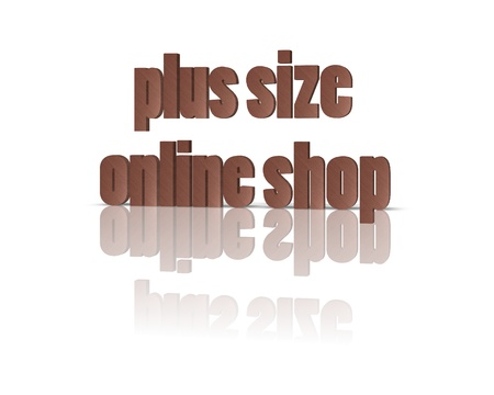 xxxl: plus size online shop 3d word