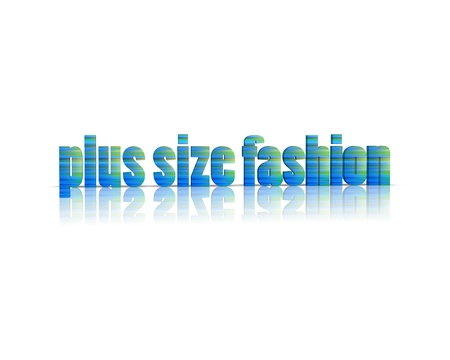 xxxl: plus size fashion 3d word Stock Photo