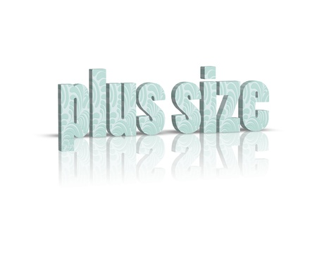 xxxl: plus size 3d word Stock Photo