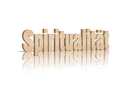 budda: Spirit 3d word Stock Photo