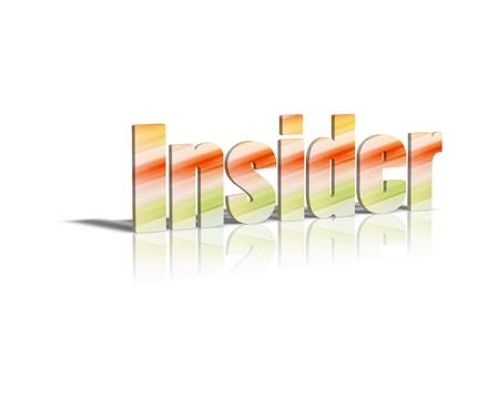 insider: Insider 3d word